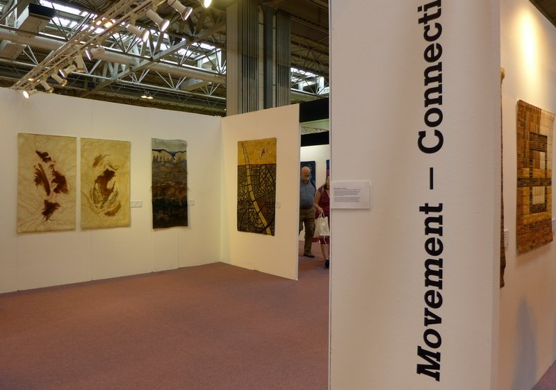 Modern Movement Blick in die Ausstellung 'Connections' The Festival of Quilts 2015