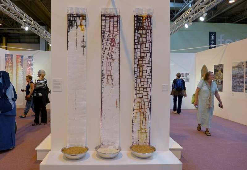 Clare Smith: Bitter Harvest Through Our Hands Ausstellung 'Maker - Making - Made' The Festival of Quilts 2015