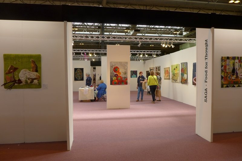 SAQA Ausstellung 'Food for Thought' The Festival of Quilts 2015