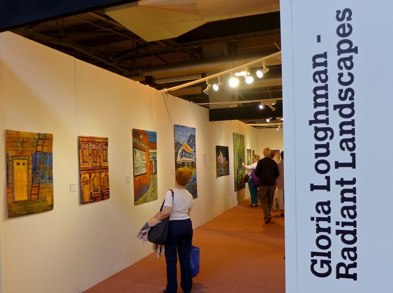 Gloria Loughman Ausstellung 'Radiant Landscapes' The Festival of Quilts 2015