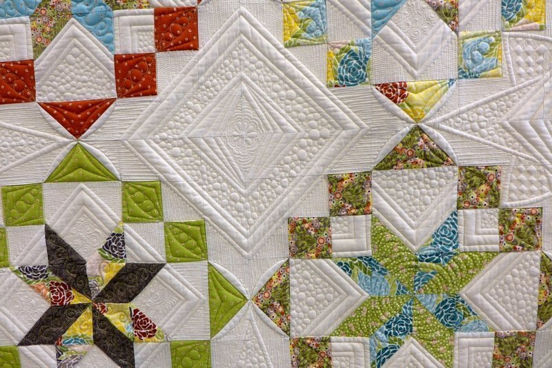 Janette Chilver: Kaleidoscope, Detail Winner Traditional Quilts The Festival of Quilts 2015