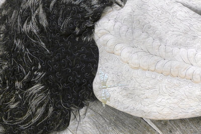 Susan Orchin: My Lady, Detail Winner Art Quilts The Festival of Quilts 2015