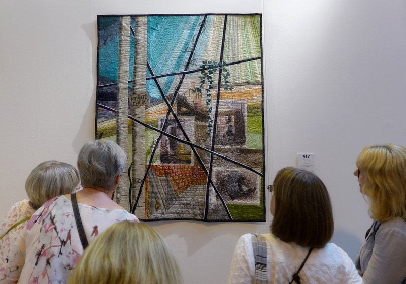 Catherine Groves: Derelict Winner My First Quilt The Festival of Quilts 2015