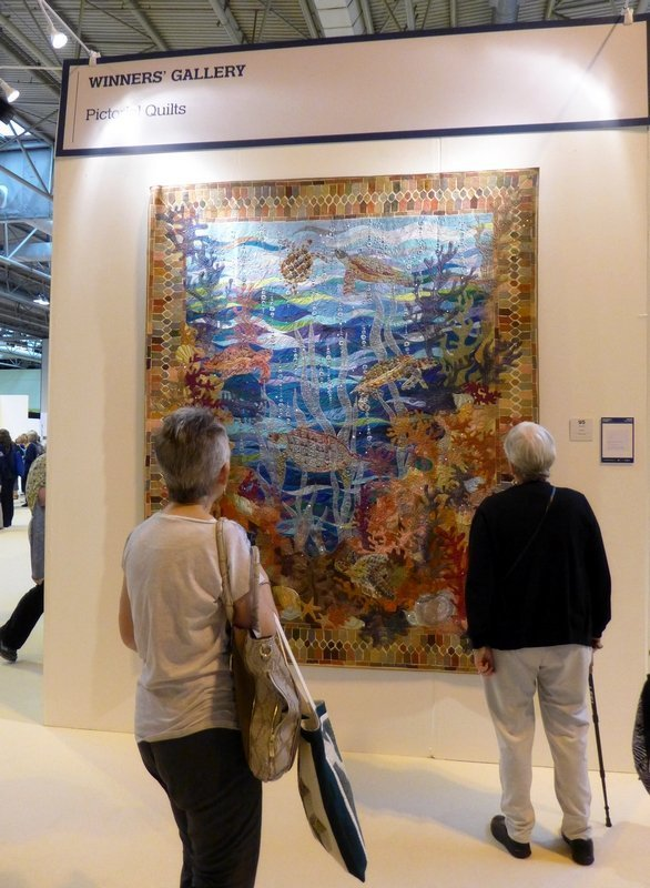 Claudia Pfeil: Turtle Bay Winner Pictorial Quilts The Festival of Quilts 2015