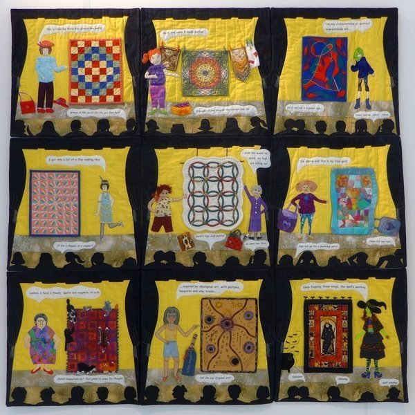 The Exhibitionists: The Show Stoppers Winner Group Quilts The Festival of Quilts 2015