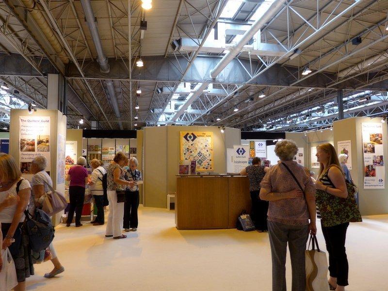 Stand der britischen Gilde The Festival of Quilts 2015