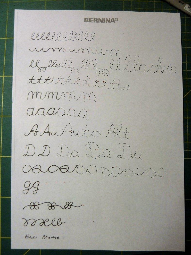 schreiben lernen mit der nähmaschine › bernina blog ~ Nähmaschine Mit Stickprogramm