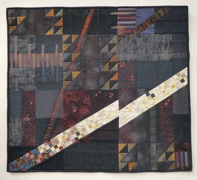 Jenny Bacon: Beneath Our Feet Ausstellung 'Golden Textures of Australia The Festival of Quilts 2015