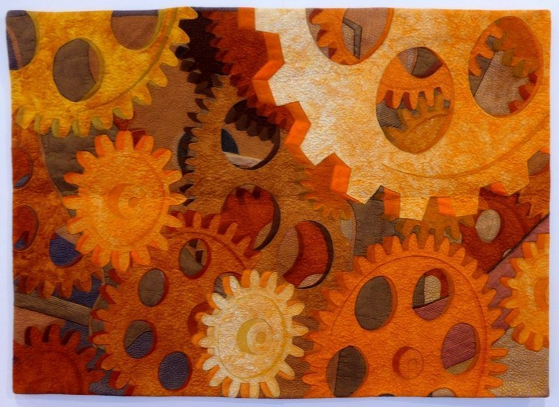 Sue Reid: Time Waits for No One Ausstellung 'Golden Textures of Australia The Festival of Quilts 2015