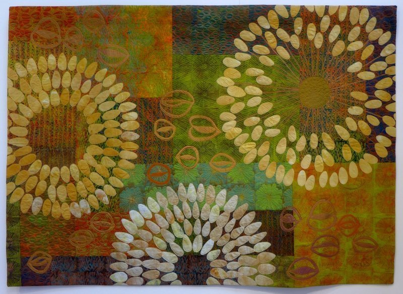 Susan Mathews: Coastal Life, Detail Ausstellung 'Golden Textures of Australia The Festival of Quilts 2015