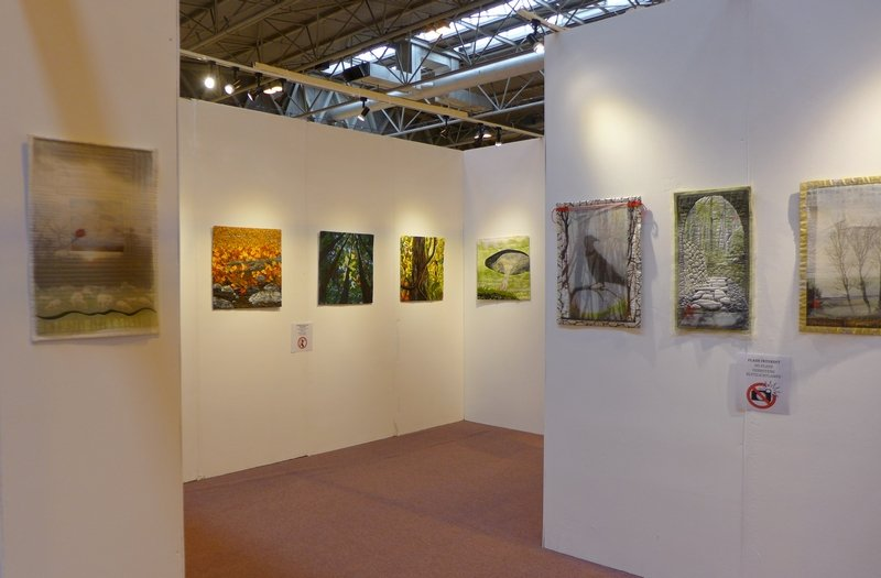 Crossing Oceans Blick in die Ausstellung 'Nature' The Festival of Quilts 2015
