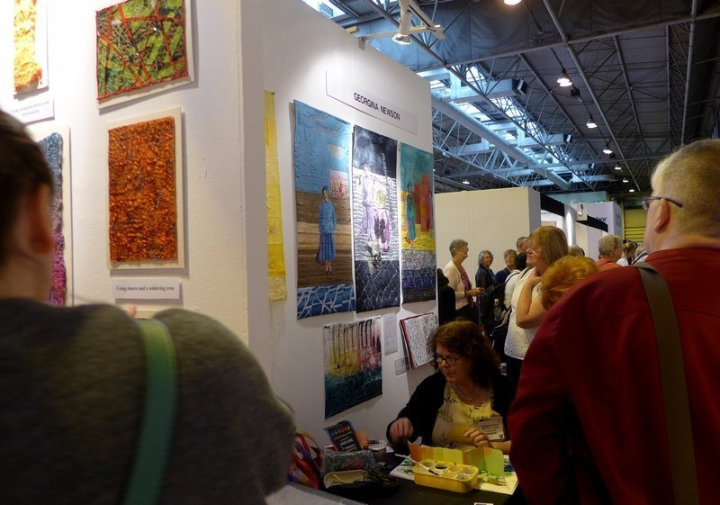 Impressionen aus der City & Guilds Gallery The Festival of Quilts 2015