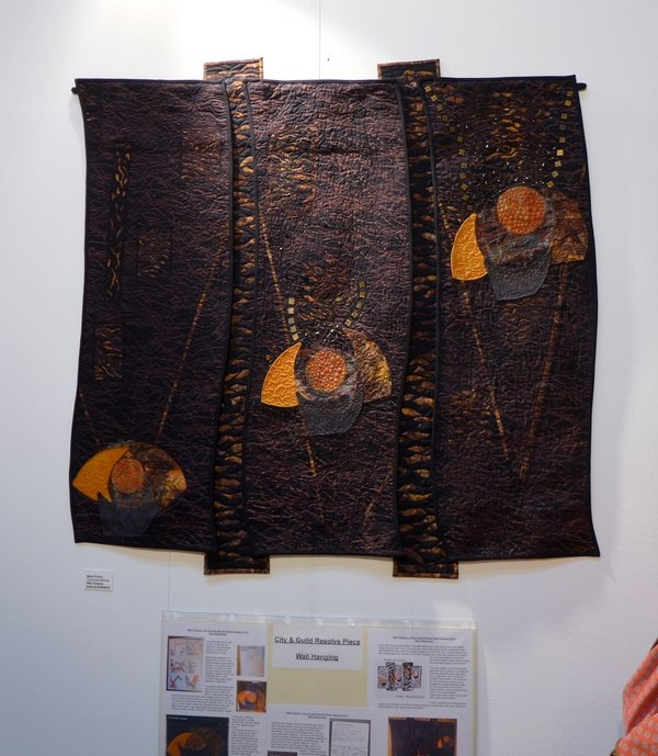 Mahri Prince: Wall Hanging 'New Beginnings' City & Guilds Gallery The Festival of Quilts 2015