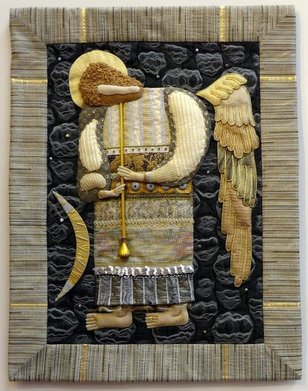 Vladimir Telnykh: Singing Angel Textile Fantasies of Vladimir Telnykh Russian Quilt Gallery The Festival of Quilts 2015
