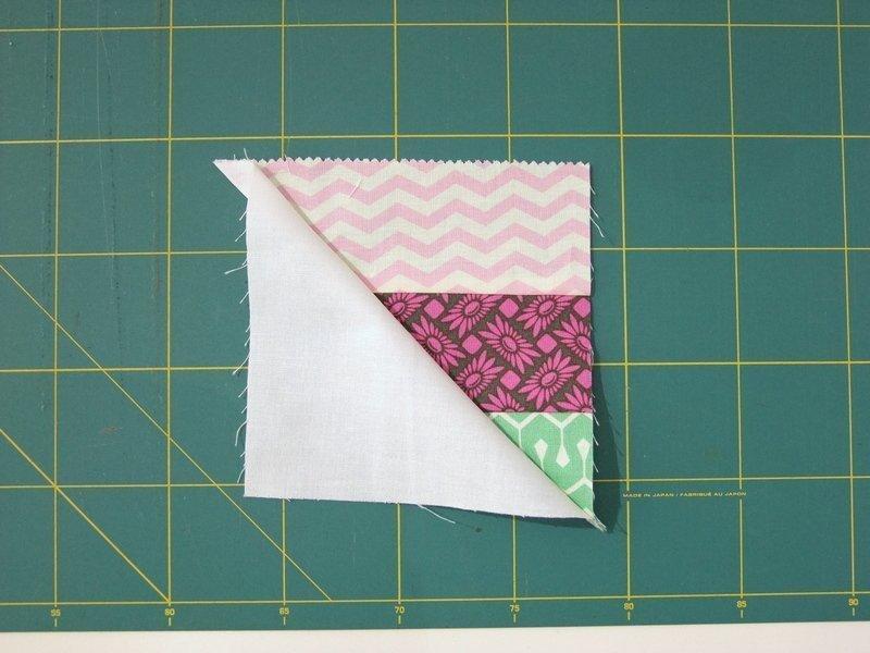 zwei Dreiecke ergeben ein Quadrat