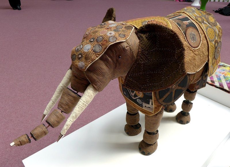 Helen Dickson: Steampunk Elephant (Quilt Creations) The Festival of Quilts 2015