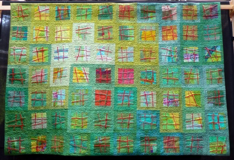 Uta Lenk: Shades of Greeb (Contemporary Quilts) The Festival of Quilts 2015