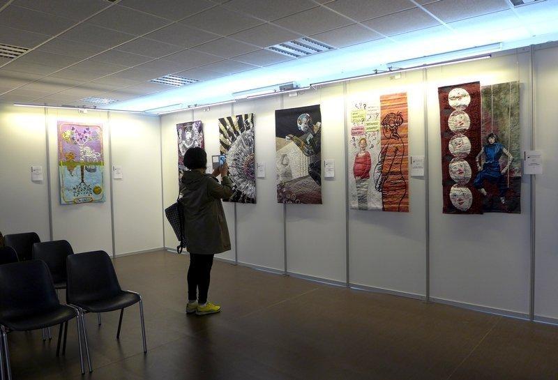 Blick in die Ausstellung 'Reflektion' - Internationaler Wettbewerb 21. Europäisches Patchwork Treffen 2015