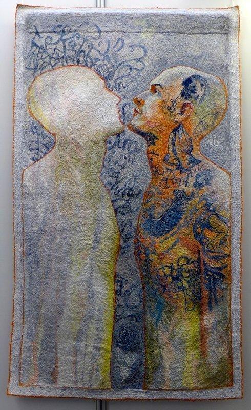 Kathryn Harmer Fox (Südafrika): A Life Lived in Ink Preis des Veranstalters Ausstellung 'Reflektion' - Internationaler Wettbewerb 21. Europäisches Patchwork Treffen 2015