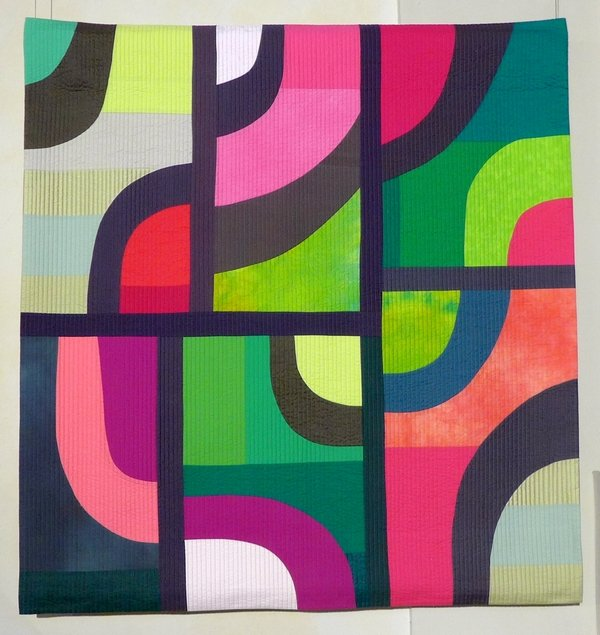 Michèle G. Samter (CH): Au fil du temps 4 Ausstellung 'Sound of Colors' 21. Europäisches Patchwork Treffen 2015