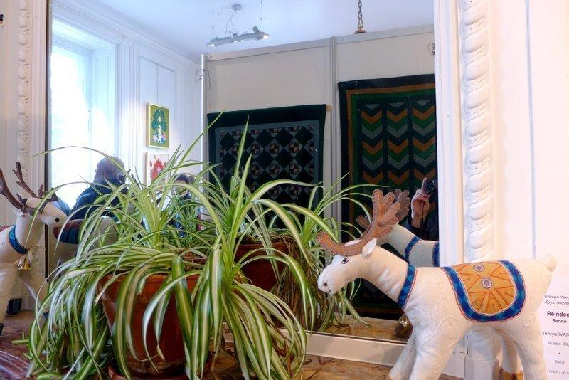 Blick in die Ausstellung 'Jakutien: Die Verehrung der Pferde' 21. Europäisches Patchwork Treffen 2015
