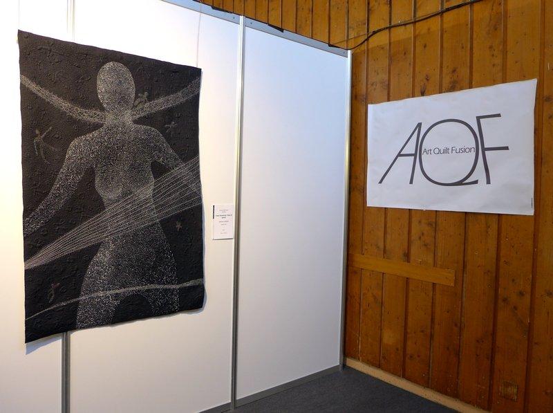 Adelheid Gubser (CH): I was dreaming I float in space Art Quilt Fusion, Ausstellung 'Ambition' 21. Europäisches Patchwork Treffen 2015