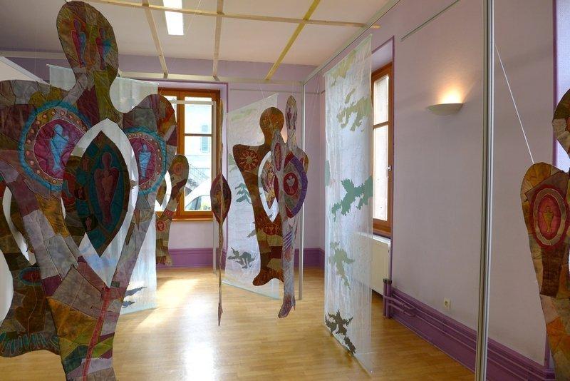 Gillian Cooper (UK): Unsung Muses, Detail Ausstellung 'Unbekannte Musen' 21. Europäisches Patchwork Treffen 2015
