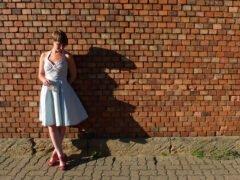 Sommerkleid mit Paspel- endlich fertig 2