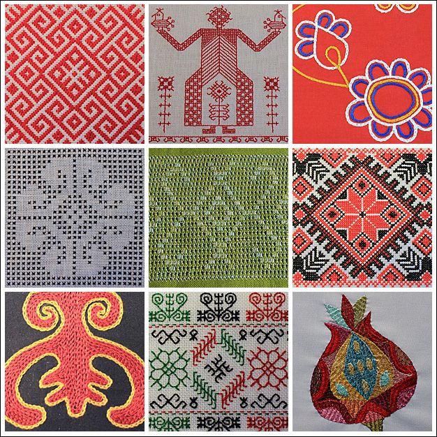 Stickereien von Christine Ober  Foto: Christine Ober