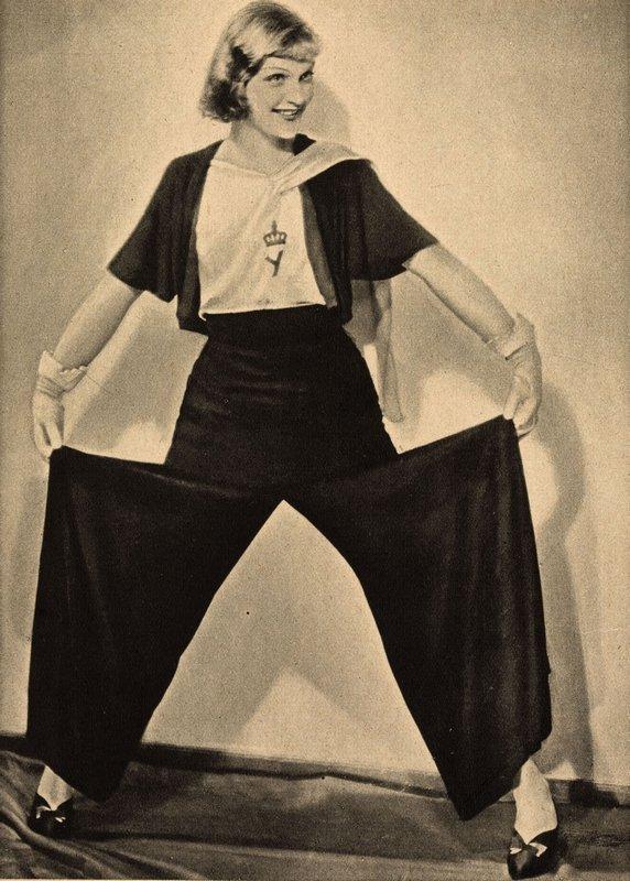 Hosenmode, aus der Zeitschrift 'Das Magazin', 1931 © Münchner Stadtmuseum