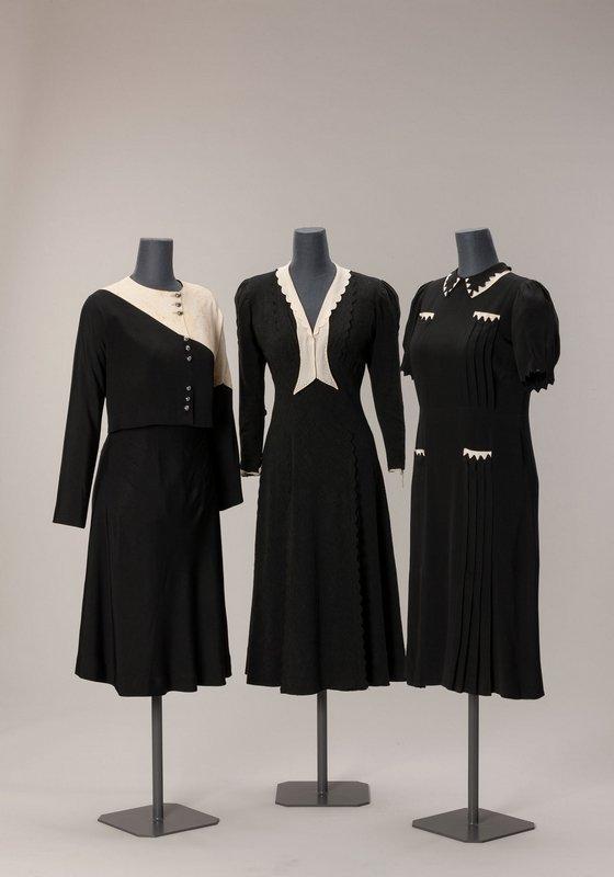 Damenkleider 1930er Jahre Seidenkrepp, Wollkrepp © Münchner Stadtmuseum
