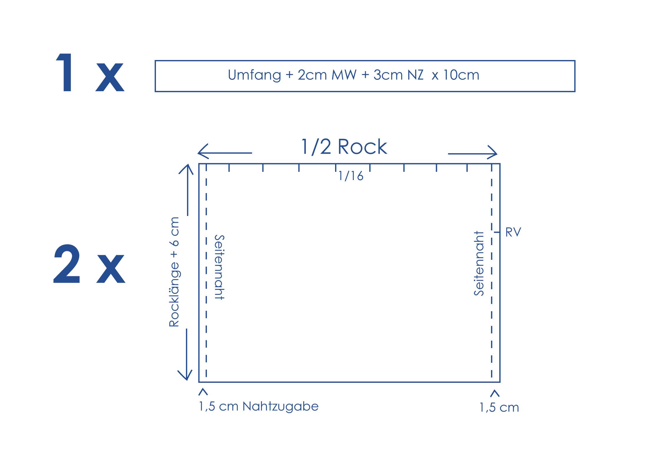 Schnittmuster und Nähanleitung für einen Herbst-Rock