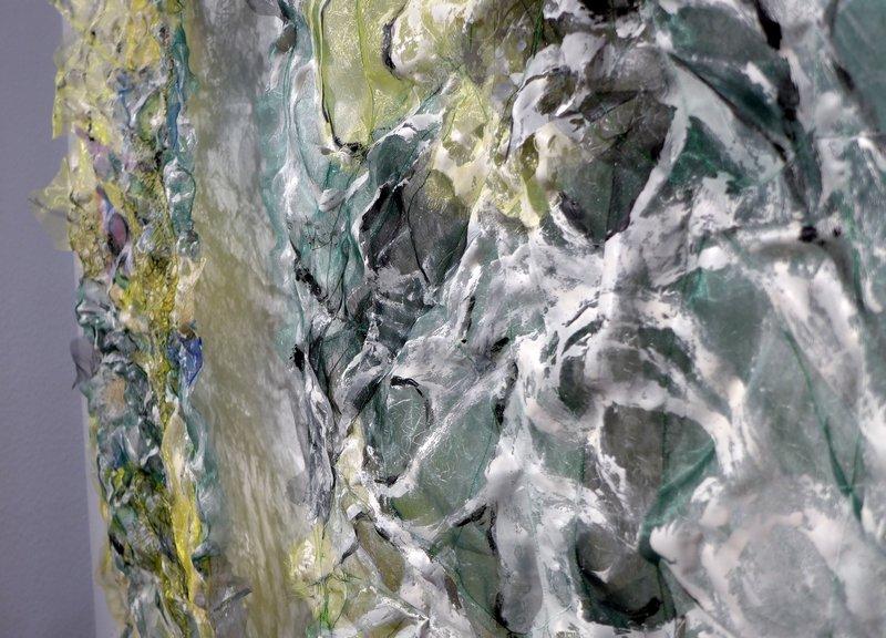 Angelika Petzl (D): Impressionen in Grün, 'Citrinitas', Detail