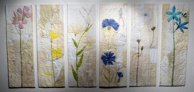 Elsbeth Nusser-Lampe (D): Blumen 88 x 180 cm