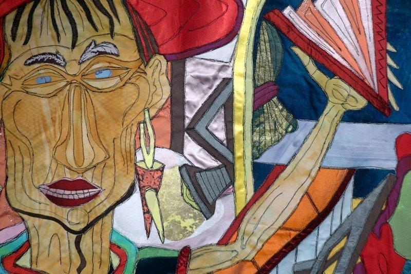 Gabriele Schneider (D): Laufsteg, Detail 85 x 120 cm