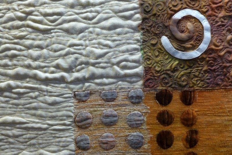 Cecilia González: Entrants de Fajol, Detail Ausstellung 'Tast textil' 21. Europäisches Patchwork Treffen 2015