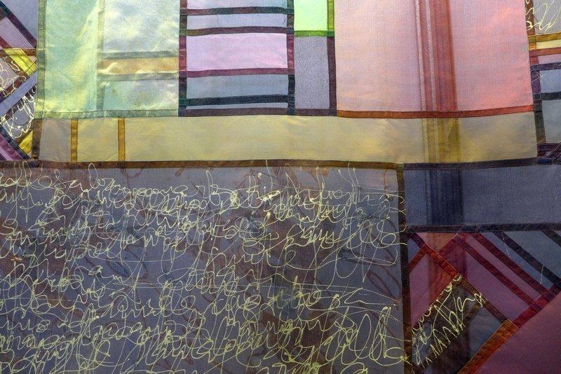 Mercè González: Ratafia D'Olot, Detail Ausstellung 'Tast textil' 21. Europäisches Patchwork Meeting 2015