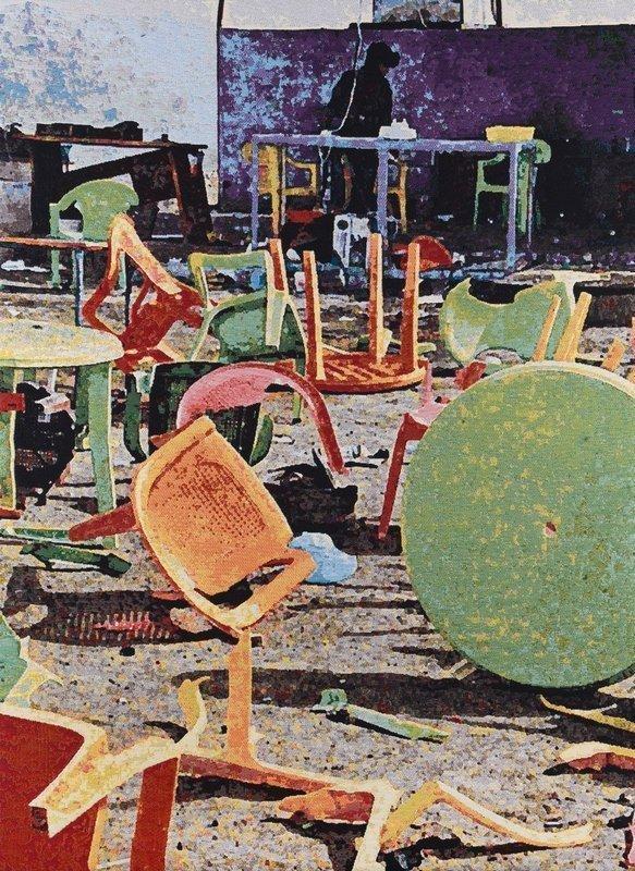 Barbara Broekman: Irak Jacquard-Gewebe, 205 x 148 cm Foto vom Museum Rijswijk zur Verfügung gestellt