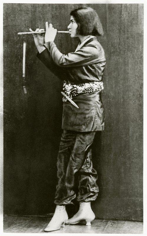 Else Lasker-Schüler: Die Flötenspielende Frontispiz des Briefromans Mein Herz, 1912 Privatsammlung, Marbach