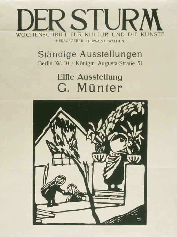 Titelblatt der Zeitschrift DER STURM Jg. 3, Nr. 138/139, Dezember 1912 Foto: Städtische Galerie im Lenbachhaus und Kunstbau, München