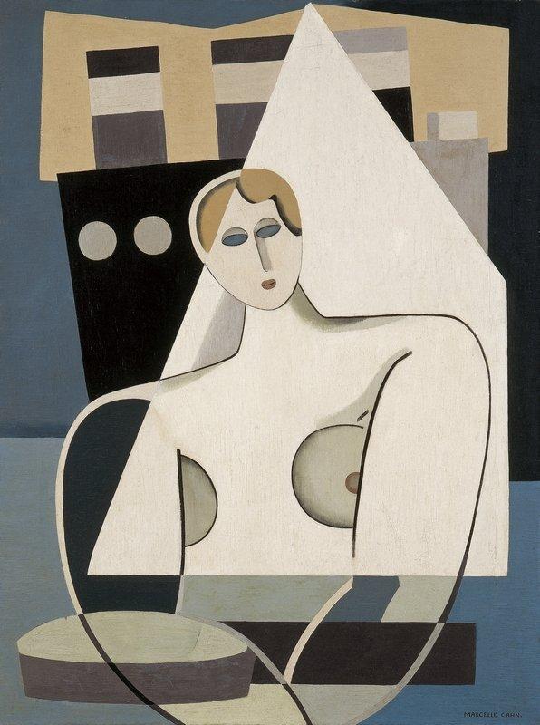 Marcelle Cahn: Frau und Segel ca. 1926-27, Öl auf Leinwand, 66 x 50 cm Musée d'Art Moderne et Contemporain de Strasbourg (MAMCS) © Foto Musées de Strasbourg, A. Plisson