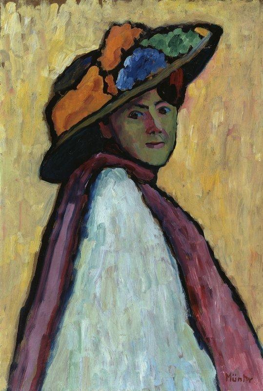Gabriele Münter: Bildnis Marianne von Werefkin ca. 1909, Öl auf Malpappe, 81 x 55 cm Städtische Galerie im Lenbachhaus und Kunstbau, München VG Bild-Kunst, Bonn 2015