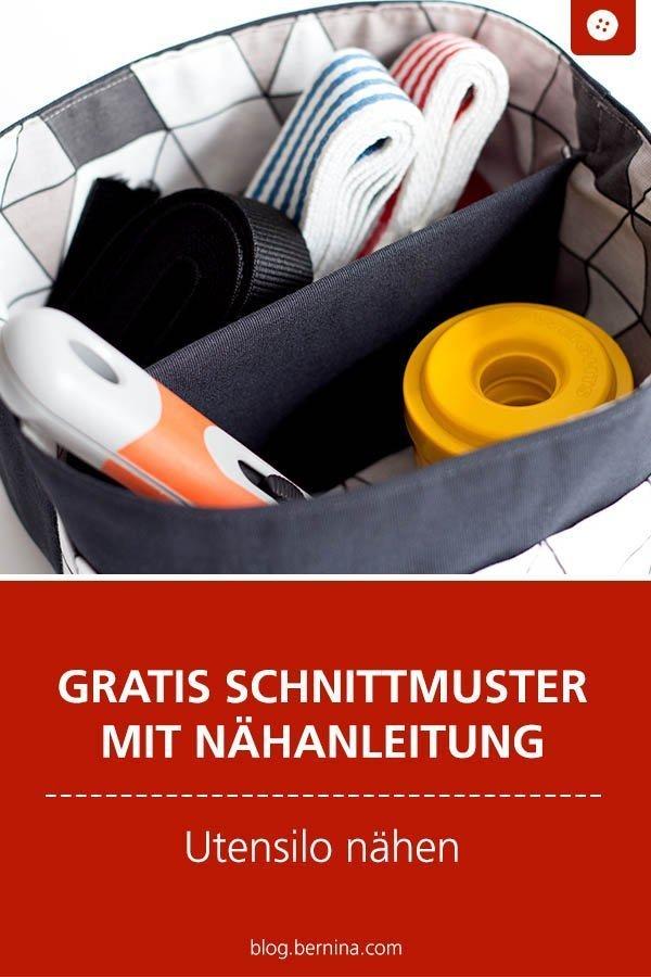 Kostenloses Schnittmuster mit Nähanleitung für ein Utensilo #schnittmuster #utensilo #korb #deko #aufbewahrung #ordnung #nähen #bernina #nähanleitung #diy #tutorial