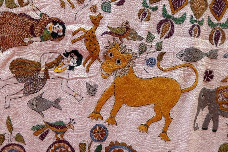 Kantha-Stickerei, Detail