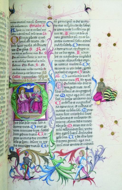 Brevier des Adalbert von Sachsen, Detail mit König David Mainz, 1482-84 Pergament, H: 27,5 cm, B: 19,5 cm © Mainz, Johannes Gutenberg-Universität Mainz, Universitätsbibliothek Mainz