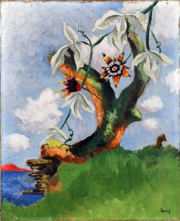 Jean Lurçat: Passionsblumen Ölgemälde Foto freundlicherweise vom Jean-Lurçat-Museum zur Verfügung gestellt
