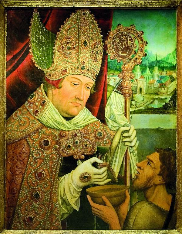 Kardinal Albrecht von Brandenburg als hl. Martin Simon Frank, Mainz, 1543 Öl/Lindenholz, 68 x 56,5 cm © Mainz, Bischöfliches Dom- und Diözesanmuseum Mainz / Schermuly