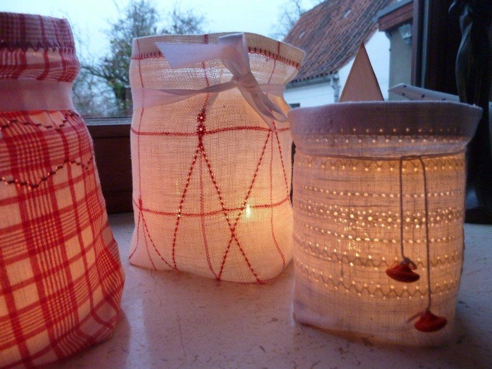 Nähanleitung für Leinen-Lichtertüten mit Hohlsaum