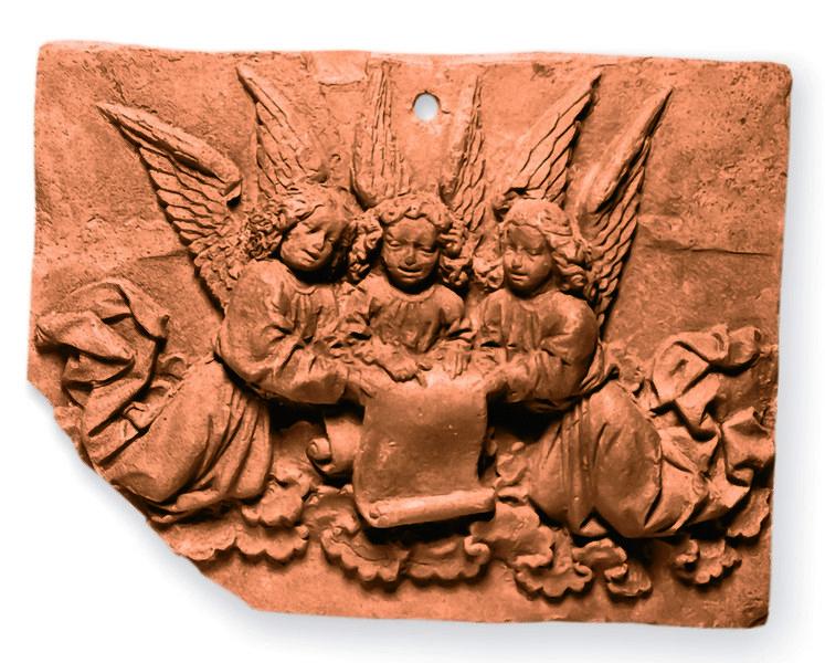 Model mit drei singenden Engeln um 1470/80 Landesmuseum Mainz, GDKE Foto vom Bischöflichen Dom- und Diözesanmuseum freundlicherweise zur Verfügung gestellt