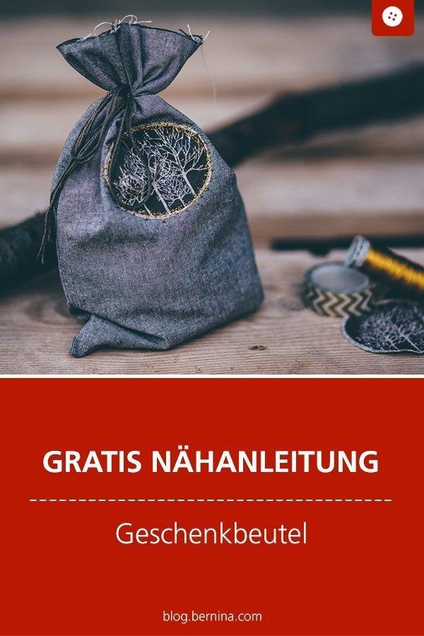 Kostenlose Nähanleitung für einen Geschenk-Beutel #schnittmuster #nähen #verpackung #beutel #geschenk #weihnachten  #bernina #nähanleitung #diy #tutorial #freebie #freebook #kostenlos